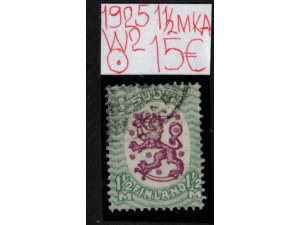 Saarinen 1925. 1 1/2mk.A. W2.